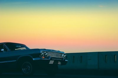 Low rider at sunset.