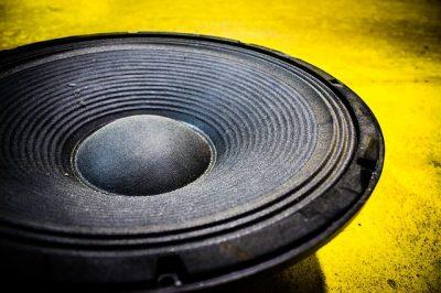 Yellow speaker cone.